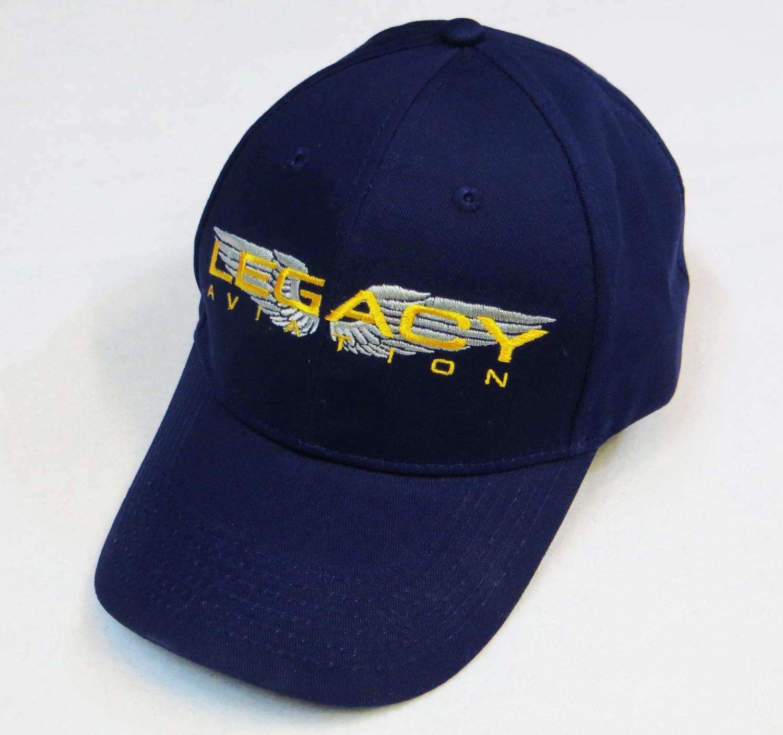 Legacy Aviation Logo Hat Blue