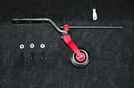 100cc Tail Wheel Assembly  -Red Anodized Aluminum
