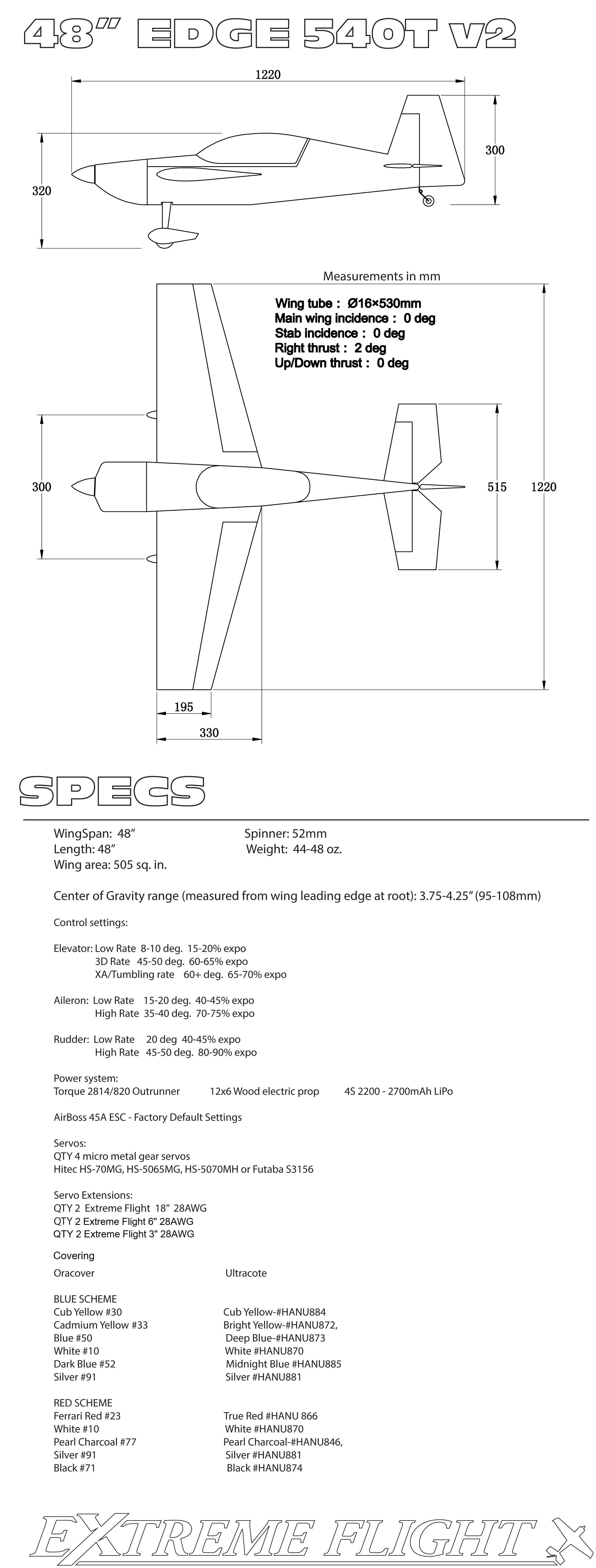 Edge 540T Spec
