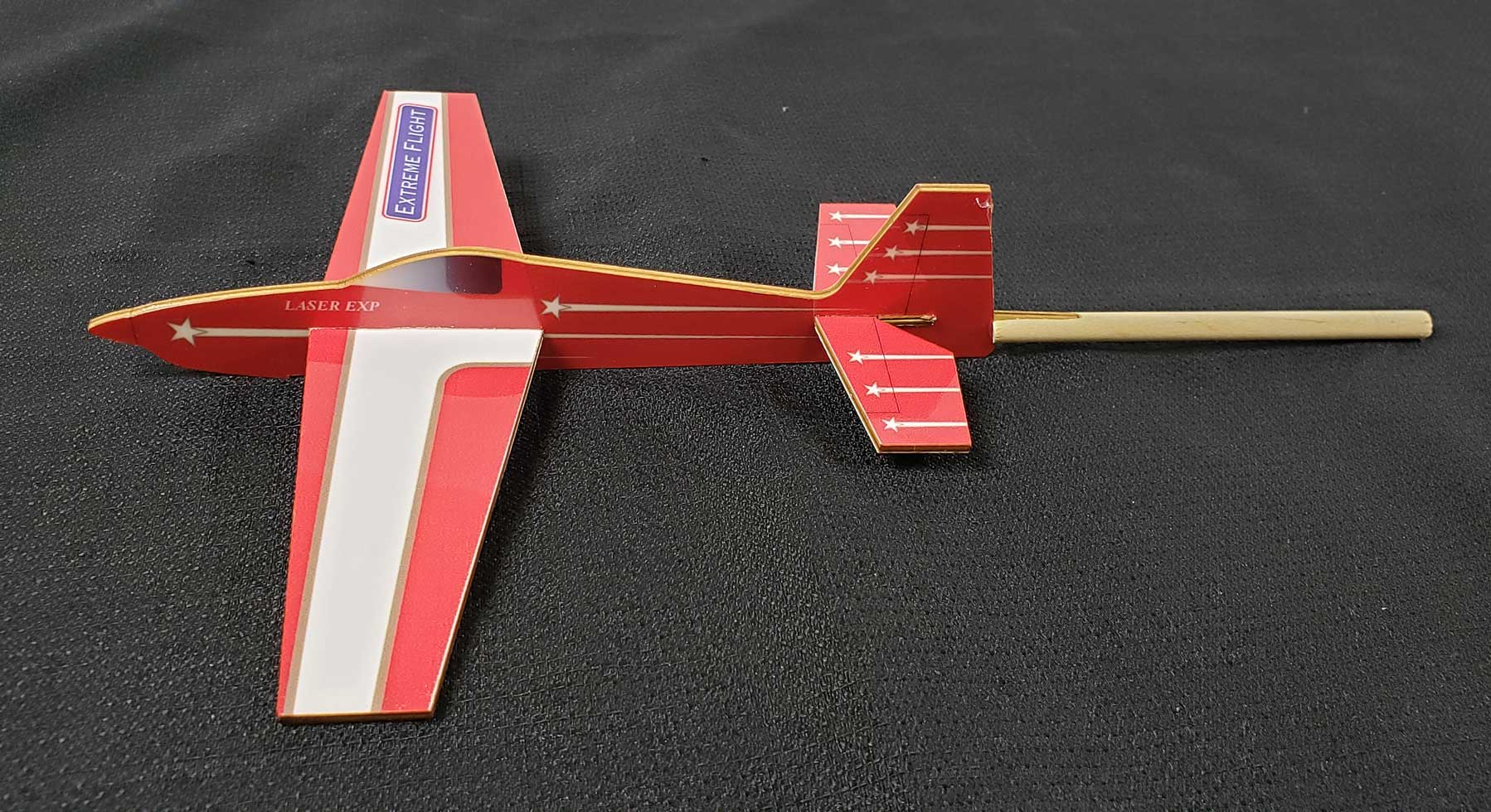 Extreme Flight Stick Plane - Laser Red Scheme