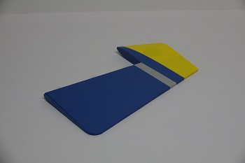 "60"" Edge 540T-EXP V2  Rudder w/control horn- Blue/Yellow"