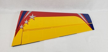 "60"" Extra 300-EXP V2 Pilot's Right Wing w/control horn- Yellow/Red"