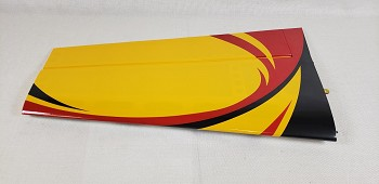 "52"" Velox Revolution Pilot's Right Wing w/ control horn- Red/Yellow"