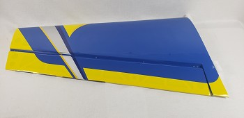 "85"" Edge 540T Pilot's Left Wing w/control horn- Blue/Yellow"