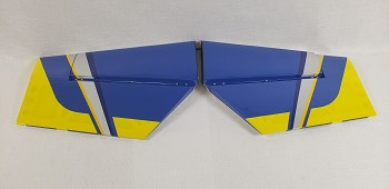 "85"" Edge 540T Stab/Elevator Set w/ control horns- Blue/Yellow"