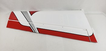 "85"" Edge 540T Pilot's Left Wing w/control horn- White/Red"