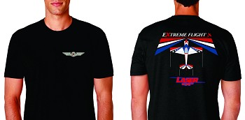 Extreme Flight Black T-Shirt - Laser