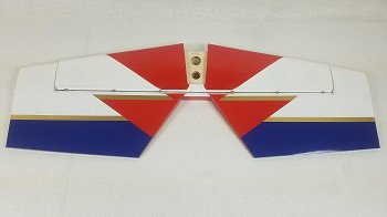 "3DHS 75"" Edge 540 Stab/Elevator Set w/ control horns- Red/White/Blue"