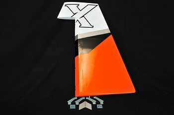 "3DHS 92"" Edge 540 Rudder- Orange/White"