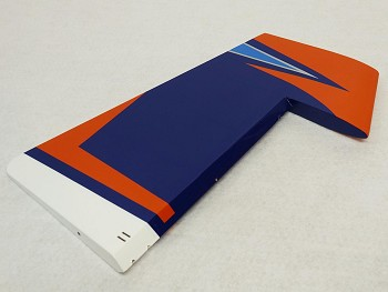 "95"" Extra 330SC-E Rudder - Orange/Blue/White"