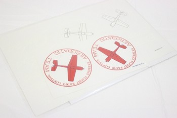 "48"" YAK54-EXP Decal Sheet- Red"