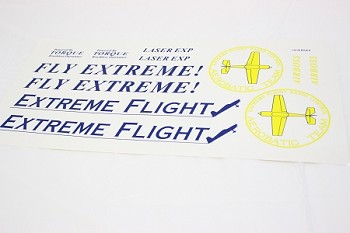 "48"" Laser-EXP Decal Sheet- Yellow"
