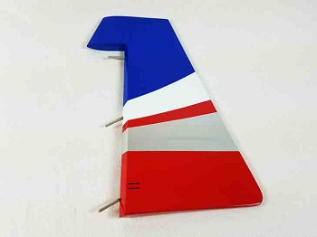 "74"" Edge 540T-EXP Rudder- Red/White/Blue"