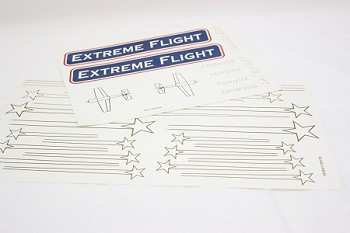"74"" Laser-EXP Decal Sheet- Red"