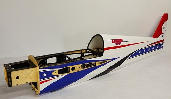 "91"" LASER-EXP Fuselage - Printed Red/White/Blue Scheme"