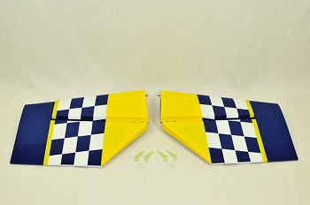 "94"" MXS Stab/Elevator Set w/ control horns - Yellow/Blue"
