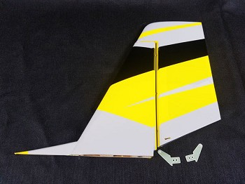 "84"" Bushmaster Rudder/ Vertical Stab Assembly-Yellow/Black"