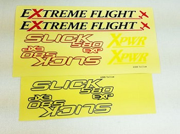 "52"" Slick 580 EXP Decal Sheet- Yellow/Blue"