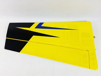 "52"" Slick 580 EXP Pilot's Left Wing- Yellow/Blue"