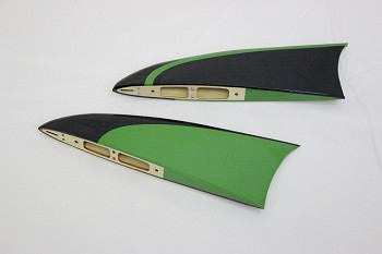 "64"" MXS-EXP Racing Wing Tips- Green"
