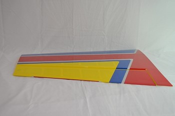 "70"" Extra 300 Pilot's Left Wing- Red/Blue/Yellow"