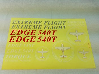 "74"" Edge 540T-EXP Decal Sheet- Red/White/Blue"
