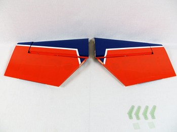 "74"" Edge 540T-EXP Stab/Elevator Set w/ control horns-Orange/Blue"