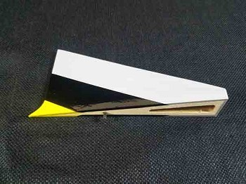 "84"" Bushmaster Rudder Wedge-Yellow/Black"